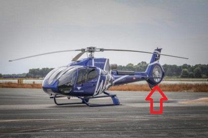 helicoptero rotor de cola